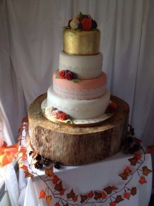 Wedding - cake orange