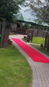 Wedding - red carpet